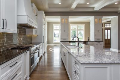 kitchen in custom built home