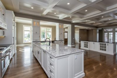 kitchen in custom built home in waukee ia