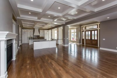 open floor plan in custom built home in waukee iowa
