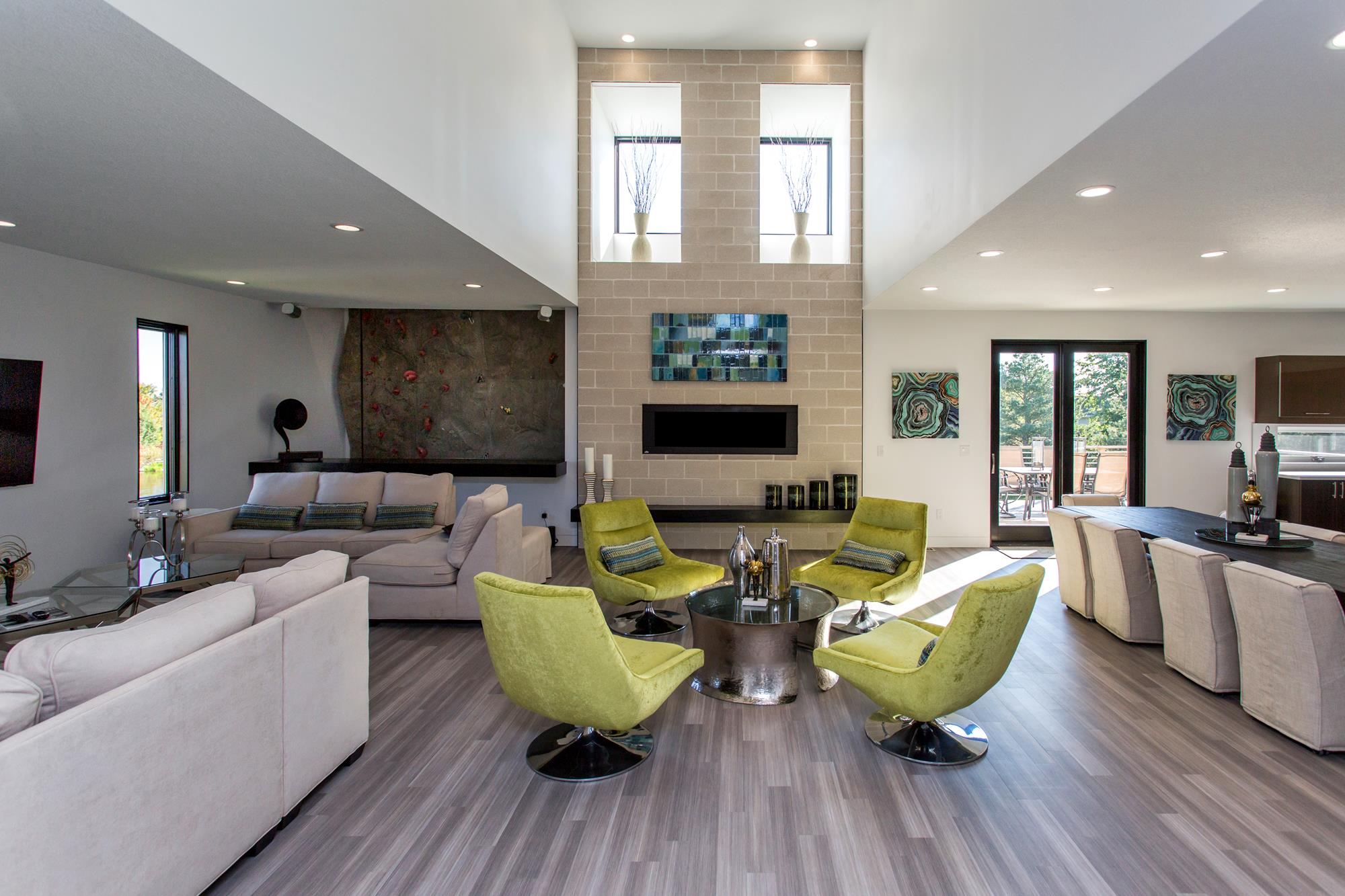 open living space in custom built home