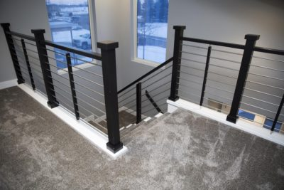 Top View of Stairway with custom built stainless steel railings